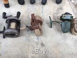 13Fishing Poles Rods and 11Reels Vintage Lot Repair or Parts Berkley Zebco Daiwa
