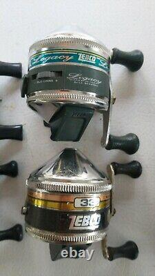 16 zebco reels lot collection 33 omega rhino 66 600 micro
