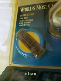 1991 World's Most Castable Reel Zebco Bullet. 257 Vintage Unique & Rare FAST