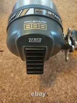 1992 Vintage Zebco 888 Pro Staff Spin-Cast Reel Made in USA NOS