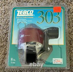 1993 ZEBCO 303 Spincast Fishing Reel Rare Made in USA, New In Package