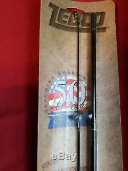 2 Vintage Zebco 202 Fishing Reel Combo 50th Anniversary 1949-1999