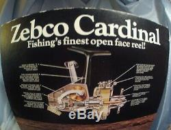 #2 Vintage Zebco Cardinal 4 Spinning Reel. MINT CONDITION. SN 750200