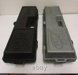 2 vintage zebco fishing reel tackle tote box storage cases plastic. Empty