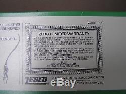 3pt8 NEW VINTAGE 1976 ZEBCO ROD #4020 & REEL #202 FISHING COMBO #1245 ST135