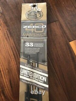 40th Anniversary Zebco 33 Rod Reel Combo Limited Belt Buckle Sealed New RARE HTF