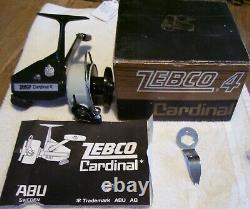 Beautiful Vintage Zebco Cardinal 4 Reel 9/1/21p Smooth Box Papers