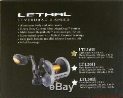 Bundle-fin-nor Lethal Ltl16ii Two Speed 6.31 Right Hand Conventional Reel + Hat