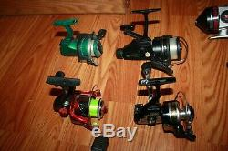 Collection of vintage bait casting & spinning reels as a lot 17, Zebco etc $7ea