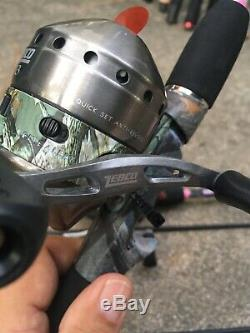 Dealer Case (4) Zebco 33 Lady Camo Pink Rod Reel Combos Limited Edition