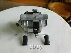 Early Vintage Zebco 33 Fishing Reel with Original Box & Papers works great