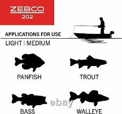 Fishing Zebco 202 Spincast Reel Rod Combo 5-Foot 6 2-Piece Pole Size 30 Right-H