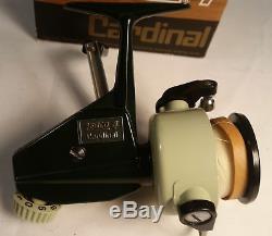 Garcia 1974 Zebco Cardianl 4 Fishing Reel Unused NOS New Mint Box Extras 4th Ver