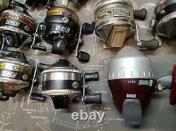 LOT OF 13 Vintage Zebco Fishing Reels 33, 600, 202, Z22 Ect. MAKE OFFER