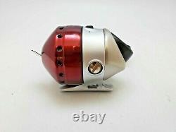 (LOT OF 8) ZEBCO 33 RED & PLATINUM SPINCAST REEL 33KPL With10LB LINE, FS