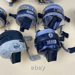 Lot Of 10 Vintage Zebco Reels Made In USA For Parts Or Repair