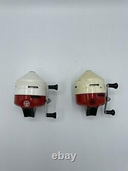 Lot Of 2 Vintage Fishing Reel Zebco Boy Scouts of America Works