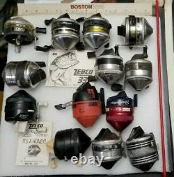 Lot Of Zebco Reels Some Usable And Some Parts