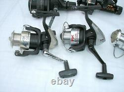 Lot Spinning Reels Shimano Rapala Mitchell Silstar Zebco Spider Wire Fishing Lot