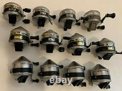 Lot of 12 Vintage USA Made Zebco 33 Fishing Reels Made in USA