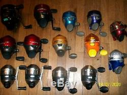 Lot of 14 assorted Zebco reels used #1