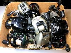 Lot of 16 Vintage Baitcasting Fishing Reels Diawa, Bass Pro, Shimano, Zebco