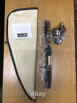 NEW Vintage Zebco 64 Pack Rod & Reel Combo Rod Carrying Bag Backpack Old Stock
