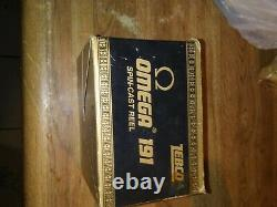 New zebco omega 191 with box and paperwork