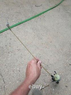 Old vintage rod and reel zebco 33 reel with the mylar inside with a little Old r