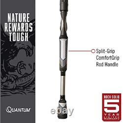 Quantum Throttle II Spinning Reel and Fishing Rod Combo, 20, Silver/Black