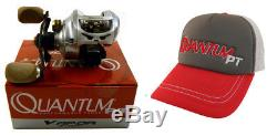 Quantum Vapor Vp100spt 6.31 Right Handed Baitcasting Fishing Reel And Hat