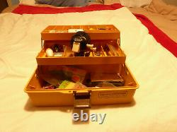 RARE (OLD PAL REEL) ZEBCO and Tackle Box With Lots of Tackle Included