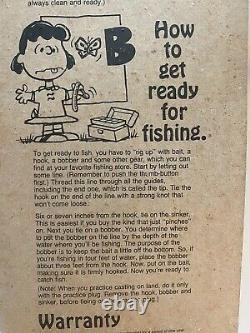 SNOOPY Peanuts ZEBCO FISHING ROD POLE, REEL, BOBBER, PLUG NIP 1988 Brunswick