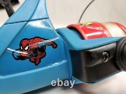 Spider man Zebco Fishing Reels Kid's Spinning Reel Left Hand Marvel Vintage NOS