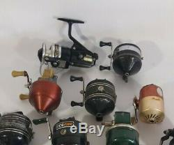 VINTAGE Fishing REEL LOT of 14 Zebco Daiwa Johnson Shakespeare