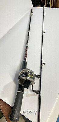 VINTAGE ZEBCO 33 RHINO REEL & Graphite FISHING ROD No. Z-SC/56 56 COLLECTORS