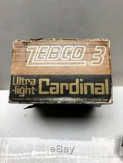 VINTAGE ZEBCO CARDINAL 3 Ultra-light SPINNING REEL WithBox SPINNING REEL #771100