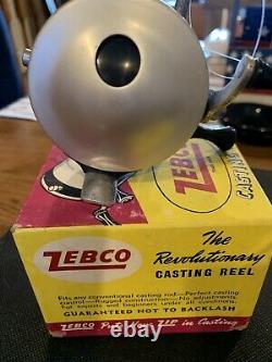VINTAGE ZEBCO CASTING REELZERO HOUR BOMB COMPANYwith BOX