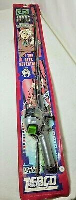 Very Rare Jonny Quest 2 Piece Tubular Rod And Zebco Closed Face Spin Reel, JQSC