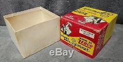 Vintage 1955-1963 Zebco 55 Heavy Duty Spinner Reel + Box + Manual Rare USA