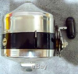 Vintage 1958 Zebco Model 55 Heavy Duty Spinner Spincast Reel+Box+Manual USA Made