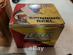 Vintage 1960's ZEBCO Fishing Spinning Reel Model 33 SILVER with 2 original box's