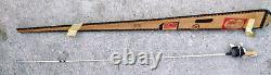 Vintage 1960's Zebco Jr. Model 77 Wood Handle Rod/Reel Combo White & Black- NIB