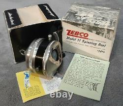 Vintage @1967 Brand New n Original Box Zebco Model 11 Spin-Cast Reel Made n USA