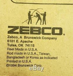 Vintage 1994 Zebco 33 Rhino Tough Combo With Rod & Two Reels (Model ZR3333)