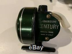 Vintage Closed Face Fishing Reel Lot Zebco 33 Johnson Century Abu South Bend (7)