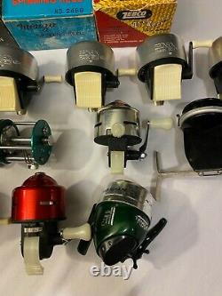 Vintage Fishing Reel Lot Casting Spinning Remington Bronson Zenith Zebco In Box