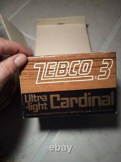 Vintage Fishing Reel NEW IN BOX Zebco Cardinal Number 3
