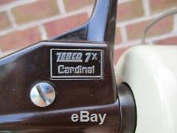 Vintage NOS Zebco Cardinal 7X Hi-Speed Fishing Reel w Box, Papers & Wrench, MINT
