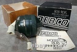 Vintage New in Box Badge Emblem Hot Stamp Zebco 808 Spin-Cast Reel Made in USA